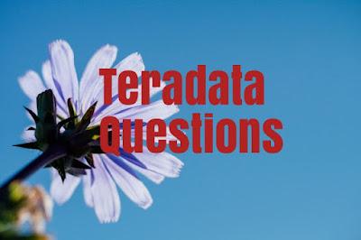 teradata questions
