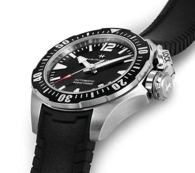 Hamilton khaki navy frogman 46 mm and 42 mm time and for Hamilton dive watch