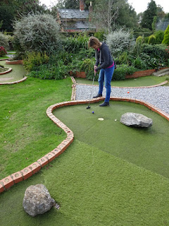 Mini Golf course at Puckpool Park on the Isle of Wight