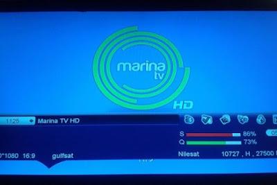 تردد قناة Marina TV HD على النايل سات nilesat