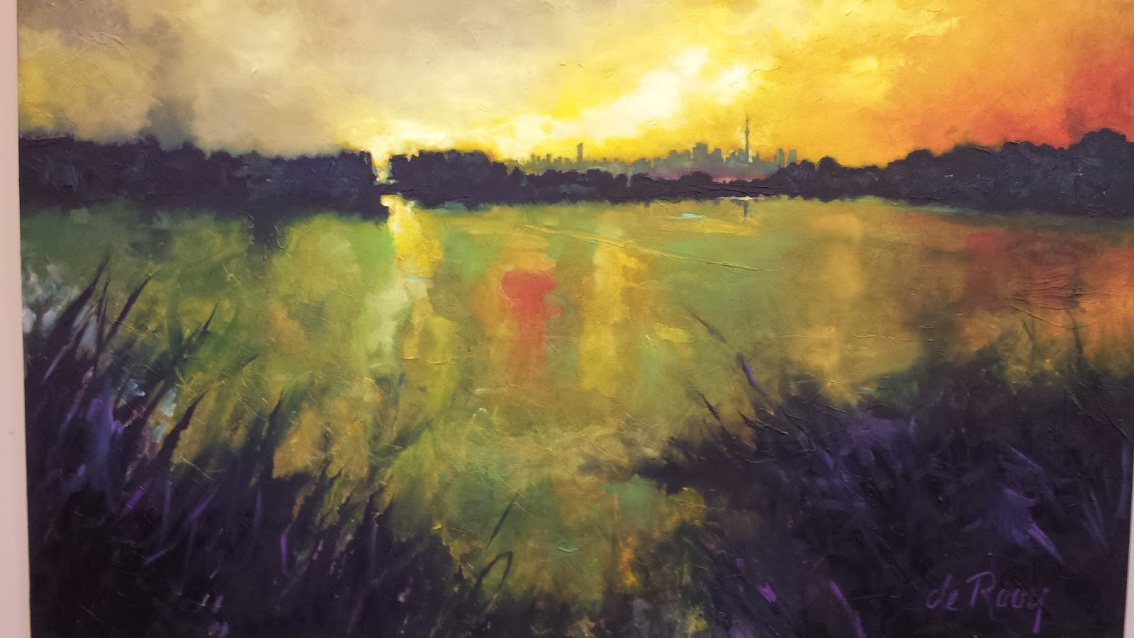 LOCAL ARTIST ADRIAN DeROOYS AMAZING PAINTINGS OF SAM SMITH PARK
