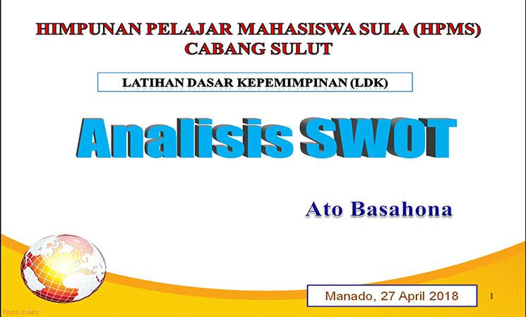 Materi Analisis SWOT pada Latihan Dasar Kepemimpinan Mahasiswa
