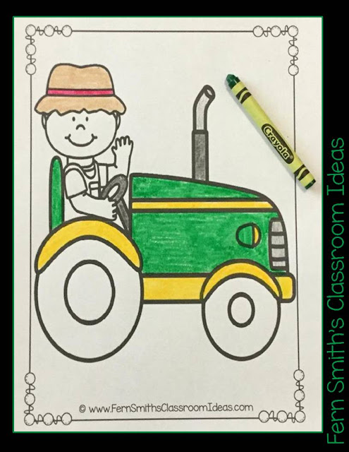 Fern Smith's Classroom Ideas Farm and Farm Animals Coloring Pages for Home and School at TpT. Now Updated, download it again for double the pages!