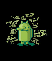 PARANOID ANDROID Funny Poster - From paranoid to android!