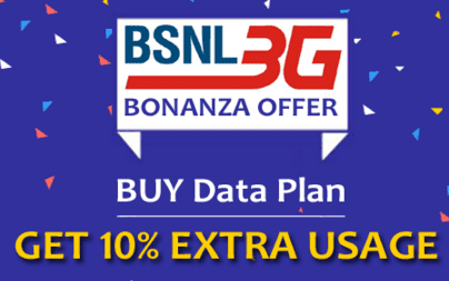 BSNL 3G Recharge Extra Data Offers