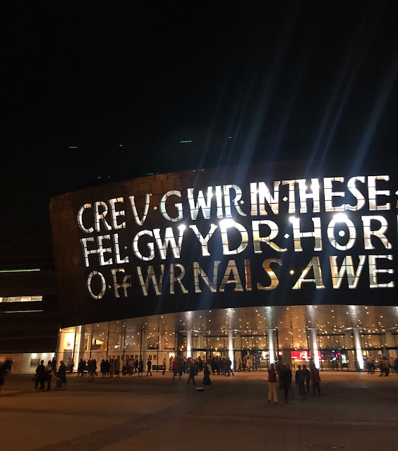beautiful photo of wales millennium centre cardiff bay