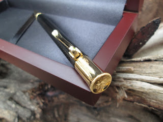Pena Mewah Patek Philippe PTK002B Metal Pen Red Wood Box
