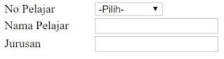 Memaparkan Data Dari Combo Box ke TextField dalam PHP