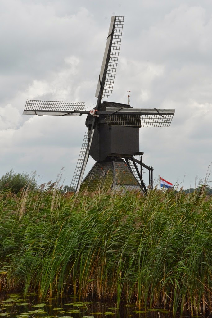 Kinderdijk black windmill