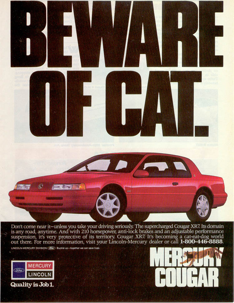 Revolution 1989 1997 mercury cougar the claws come outnally publicscrutiny Image collections