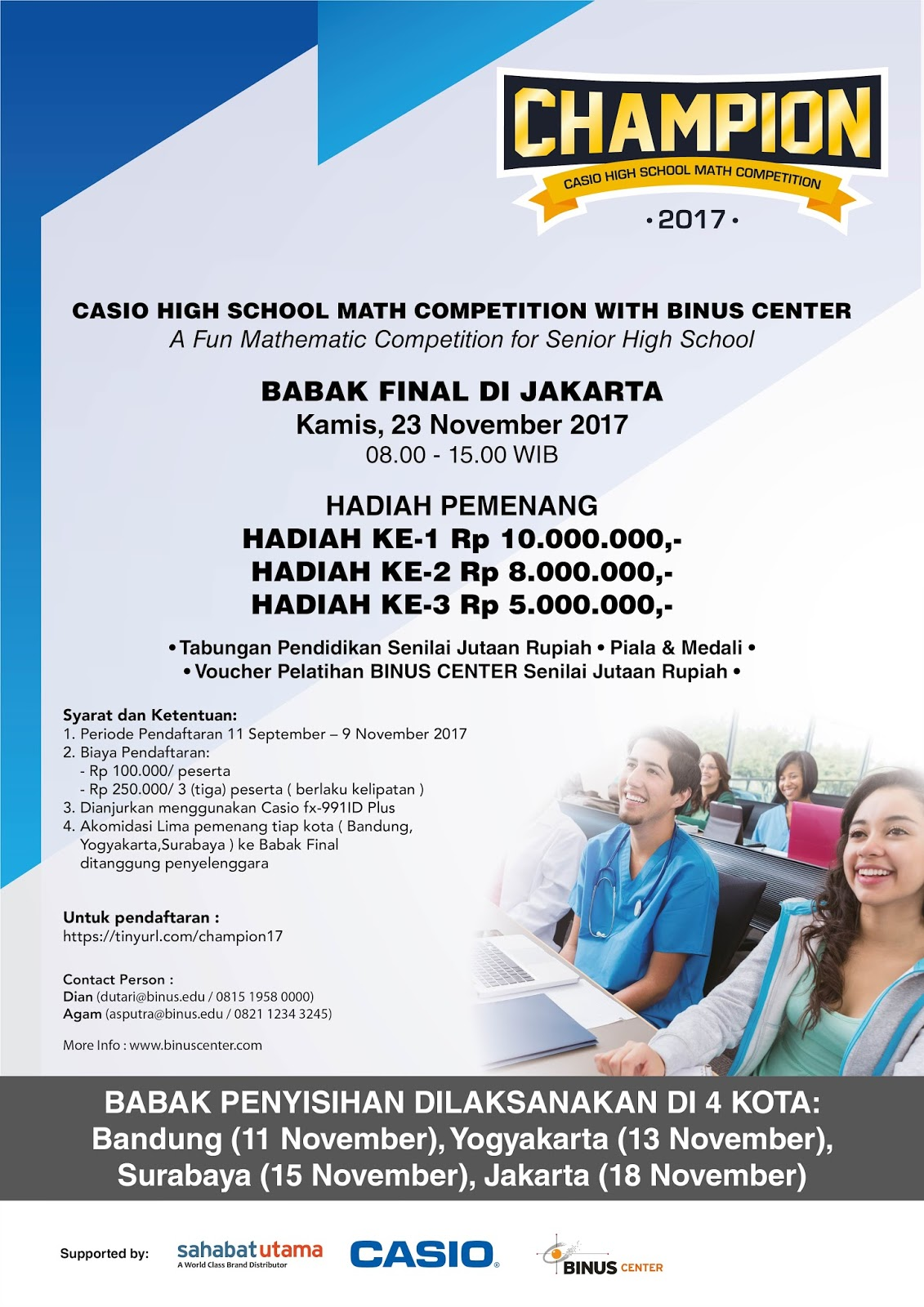 Casio High School Math Competition 2017 Tingkat SMA
