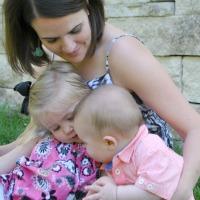 Adrienne Weeks and her kids from The Iowa Farmer's Wife on B-InspiredMama