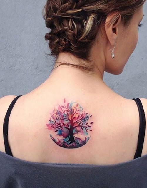 Tatuagem aquarela