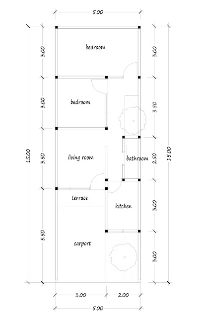 floor plan of narrow house 04