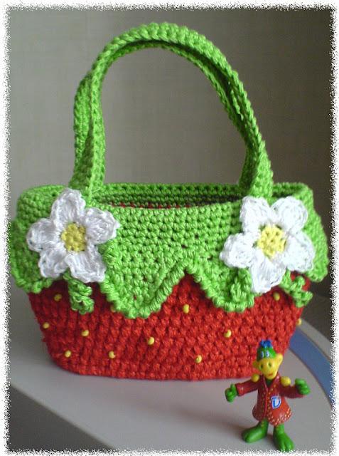 "Patron Crochet Bolsa ""Fresa"""