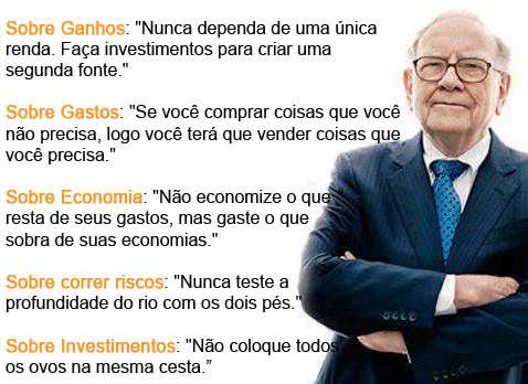 Conselhos sobre dinheiro do Warren Buffet