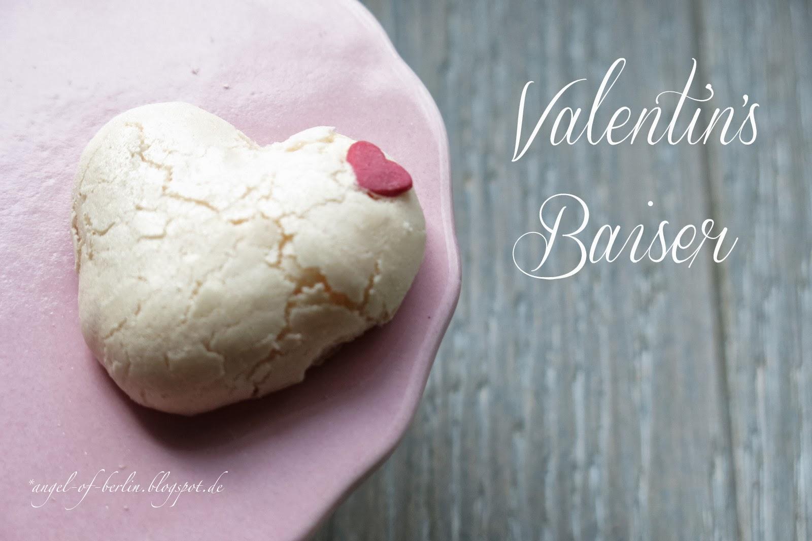 Herzchen Baiser zum Valentinstag