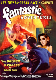 "Magazine cover: ""THe GoldenProcess""by Roberta Moore."