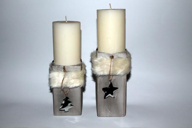 DIY Fell Kerzenständer aus Gips