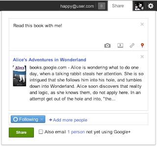 google book sharing