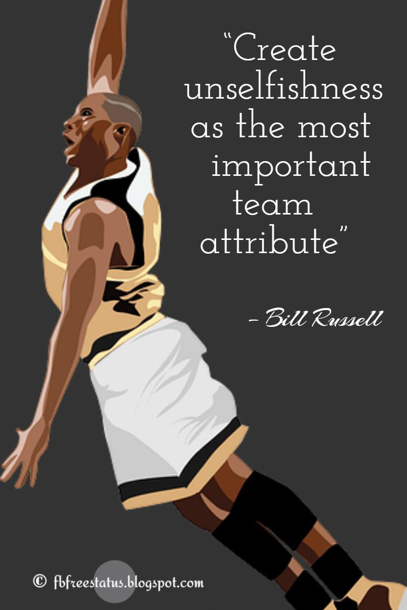 Bill russell basketball quotes with image