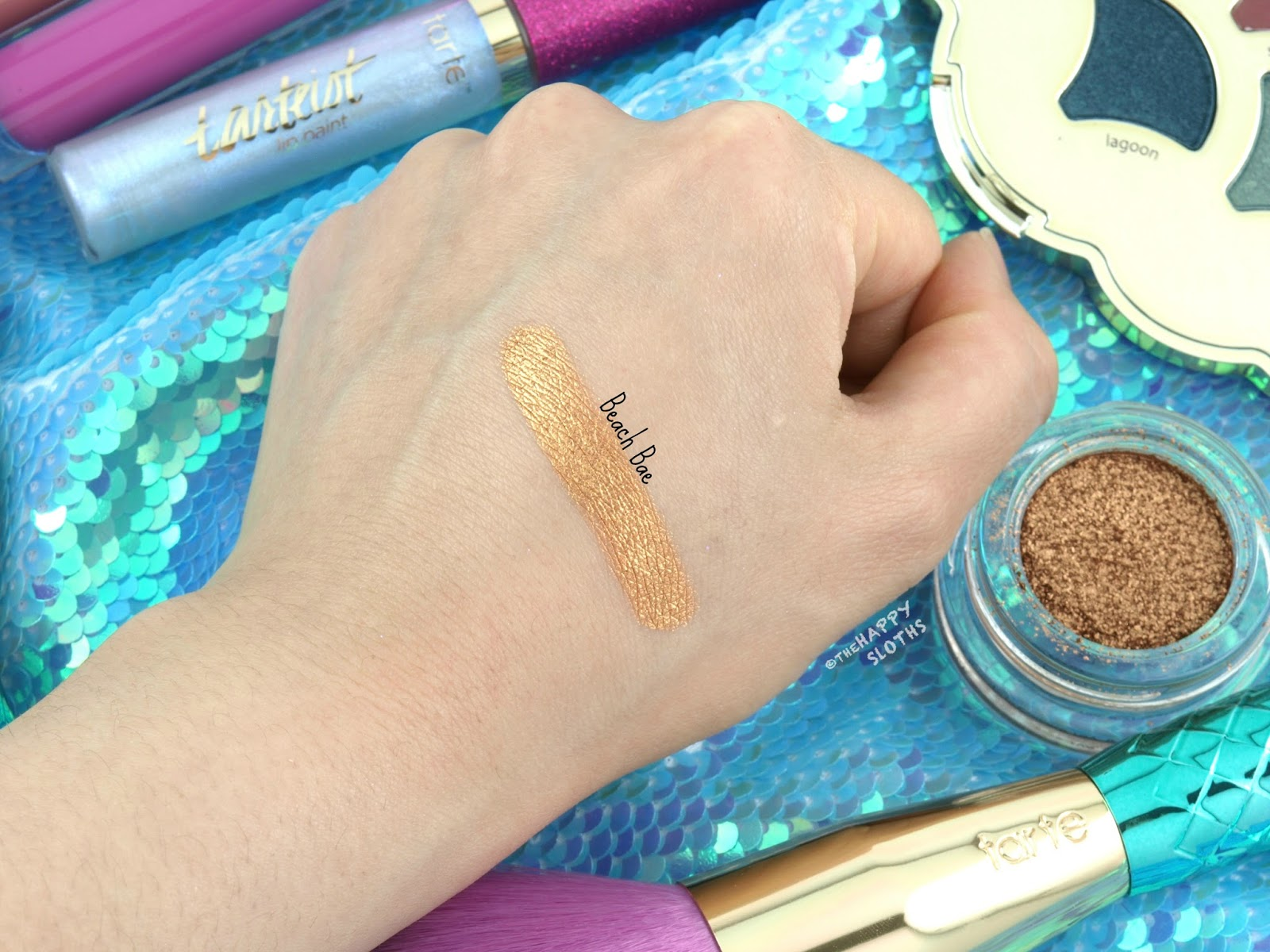 "Tarte Mermaid Collection | Chrome Paint Shadow Pot in ""Beach Bae"": Review & Swatches"