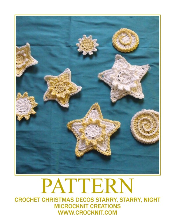 free crochet patterns, how to crochet, stars, starshine, starbursts, swirls, christmas decos,