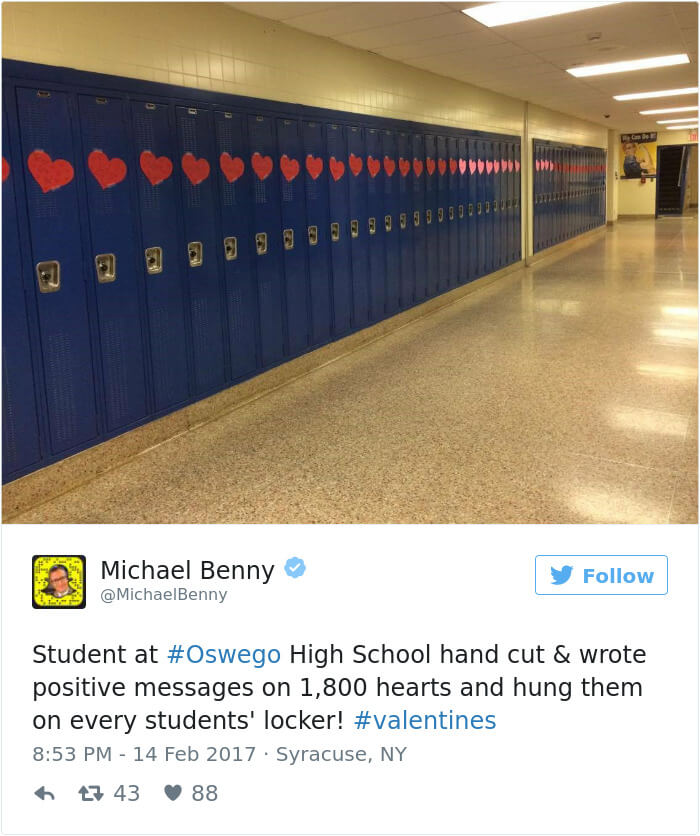 An Anonymous Student Sent Over 1,500 Handmade Valentine Cards