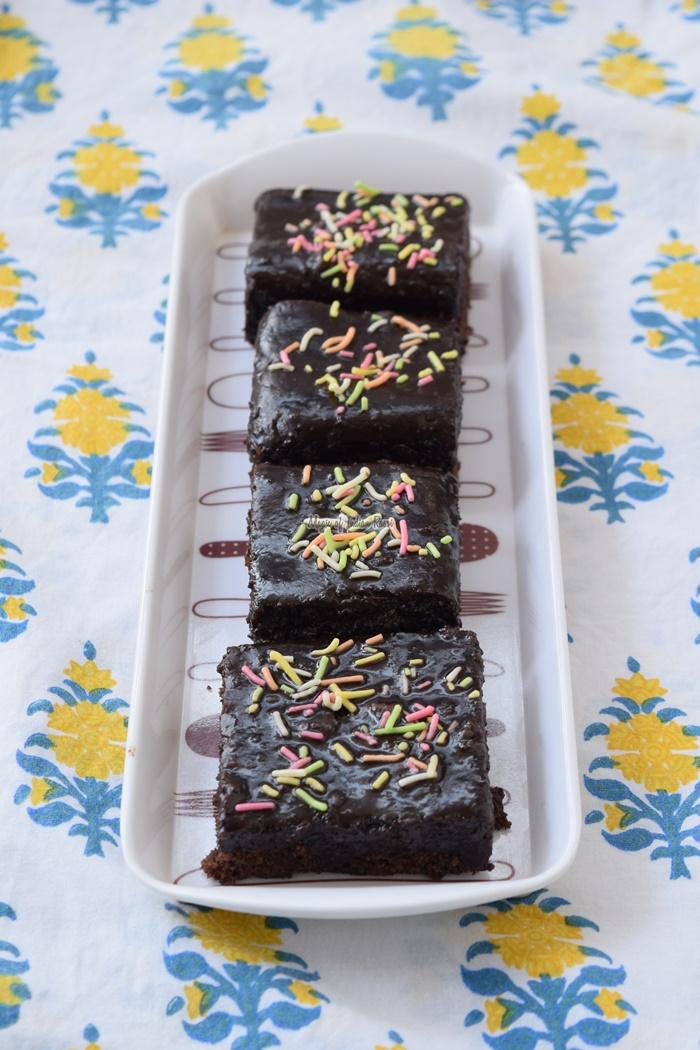Perfect Eggless Fudge Chocolate Brownie - Priya R - Magic of Indian Rasoi