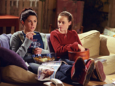 gilmore girls on couch
