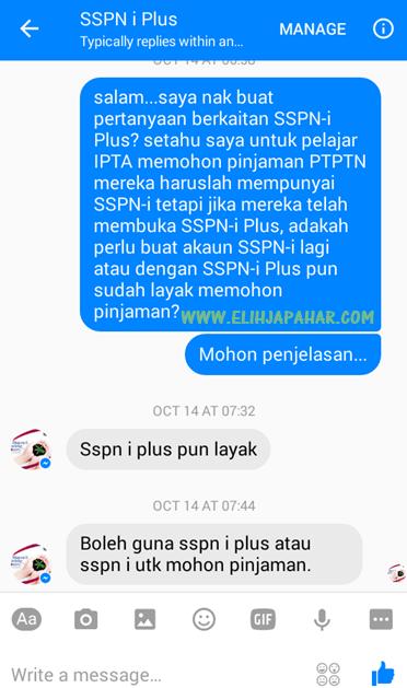 SSPN-i Plus/SSPN-i Wajib Untuk Permohonan Pinjaman PTPTN
