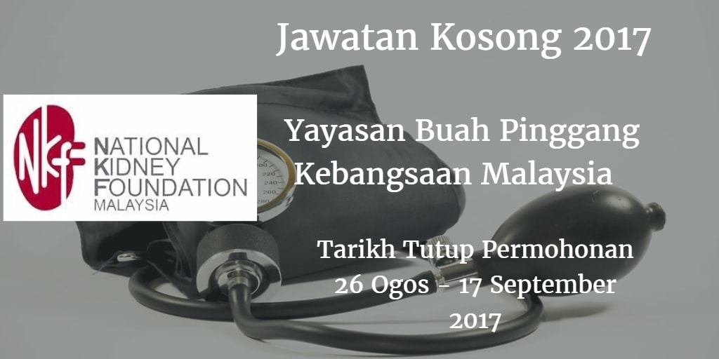 Jawatan Kosong NKF 26 Ogos - 17 September 2017