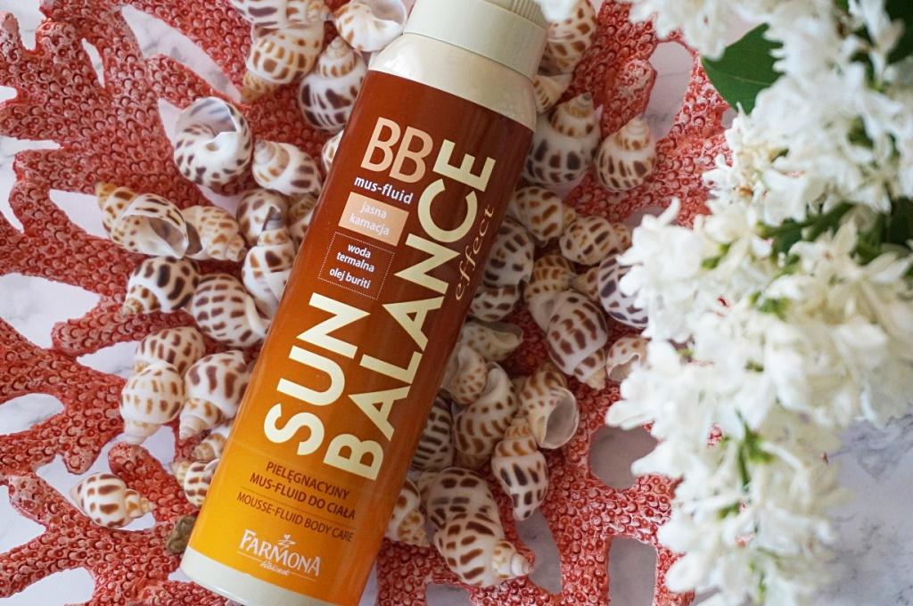 BB pielęgnacyjny mus - fluid do ciała Sun Balance Farmona - lekka opalenizna i maskowanie niedoskonałości skóry
