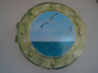 "Cruise Ship Porthole Peel 'N Place 12"" x 15"""