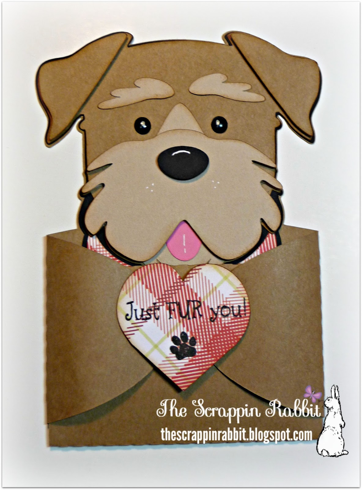 He looks kind of like an Airedale pup. I stamped this sentiment and ...