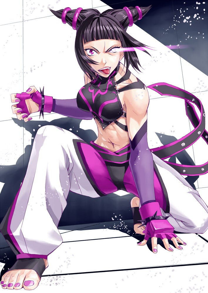 juri han tongue out