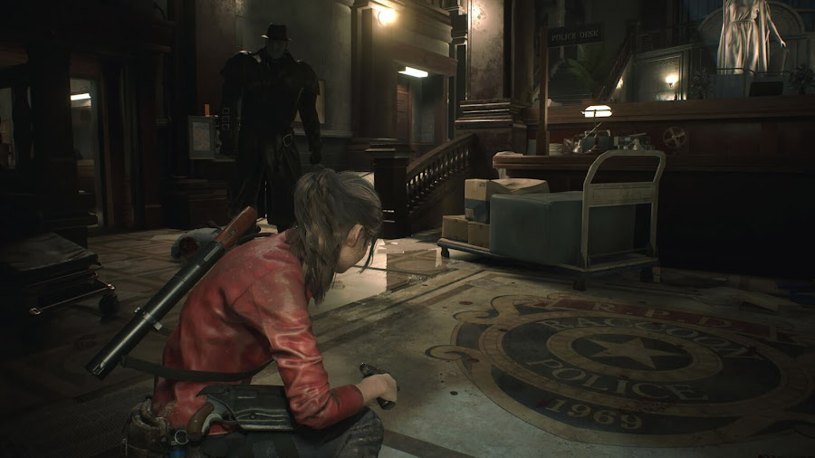 resident evil 2 remake claire redfield vs mr x screens 2