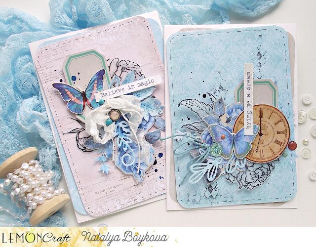 Niebieskie kartki - Cards in blue