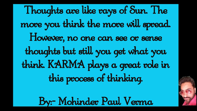Making Self Success - Thoughts are like rays of Sun