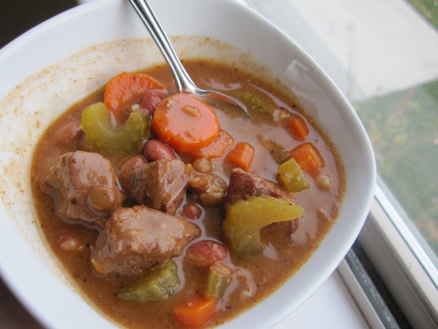 beef vegetable freezer soup