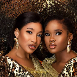 Actress Tonto Dikeh and #BBNaija star Ceec stun in new campaign photos for Sapphire scents