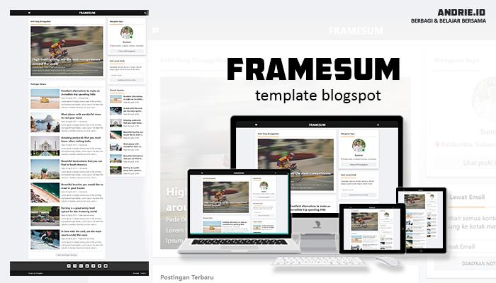 Framesum Minimalist Blogger Template