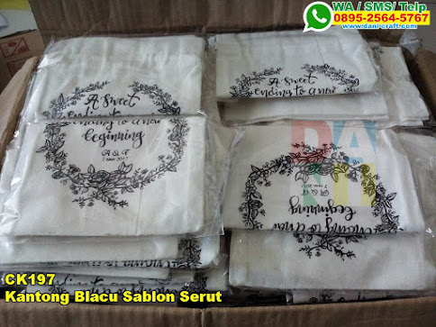 Jual Kantong Blacu Sablon Serut