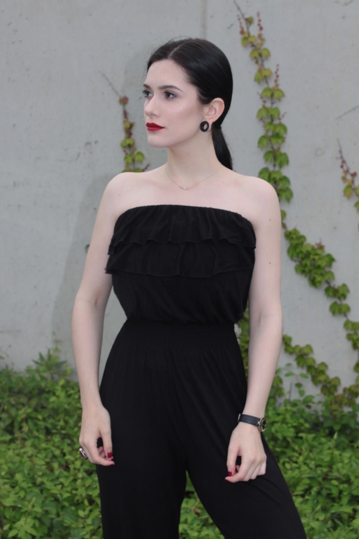 total black look l czarny kombinezon l lato l stylizacja