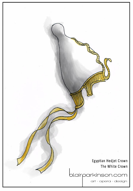 Design for Ancient Egyptian Hedjet Crown - The White Crown