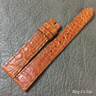 Dây da cá sấu vàng bò