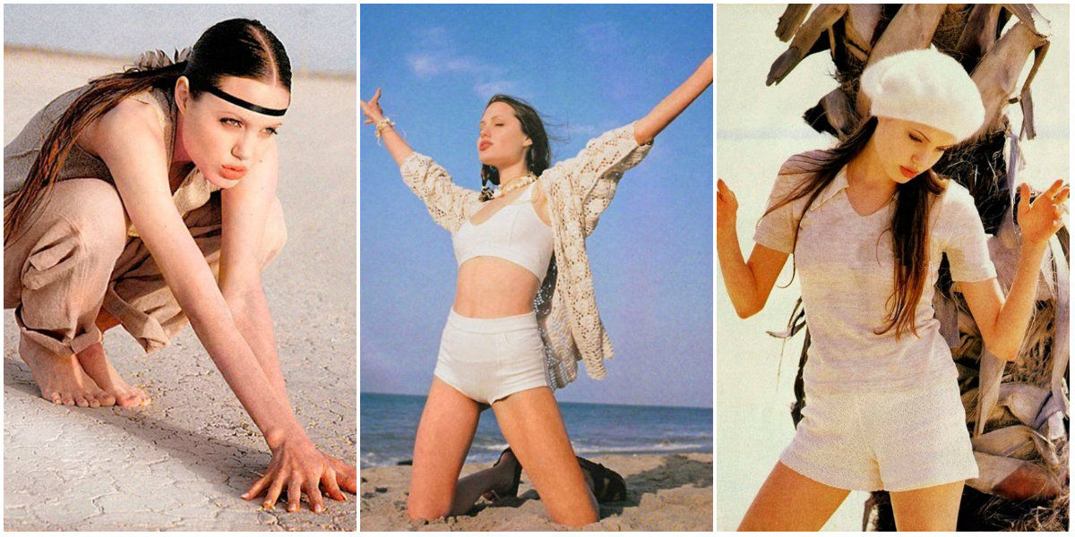 Early Modeling Photos Of Angelina Jolie When She Was 18