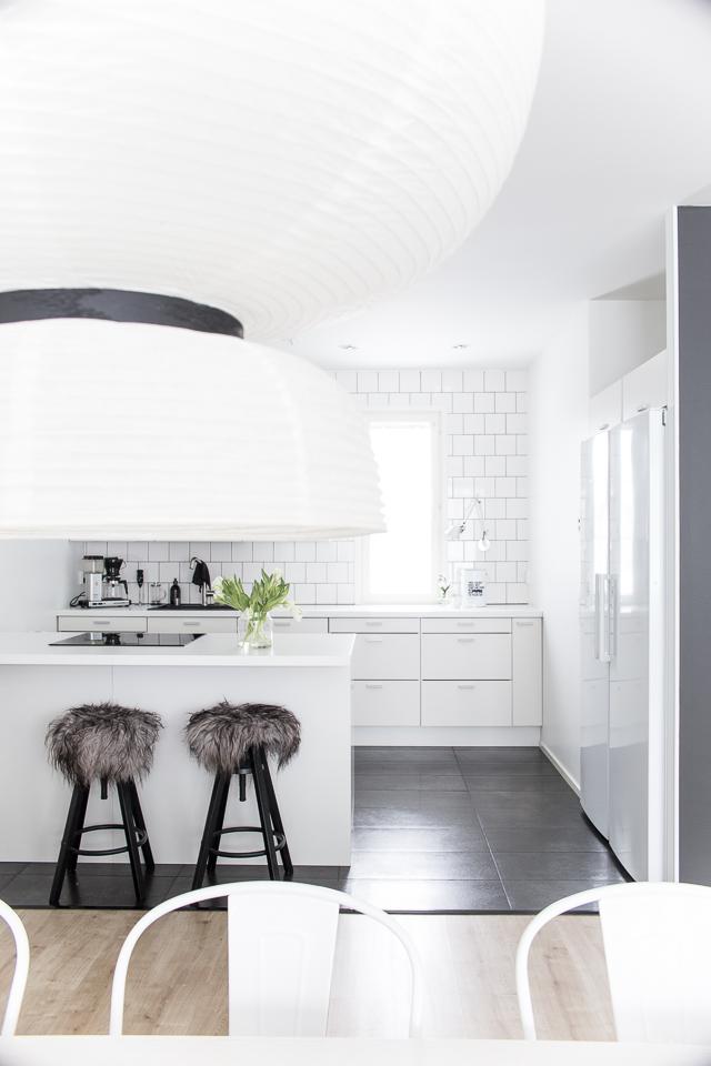 valkoinen keittiö, keittiön sisustus, interior