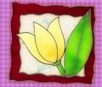gerahmte Tulpe, bearbeitete Kreul-Vorlage