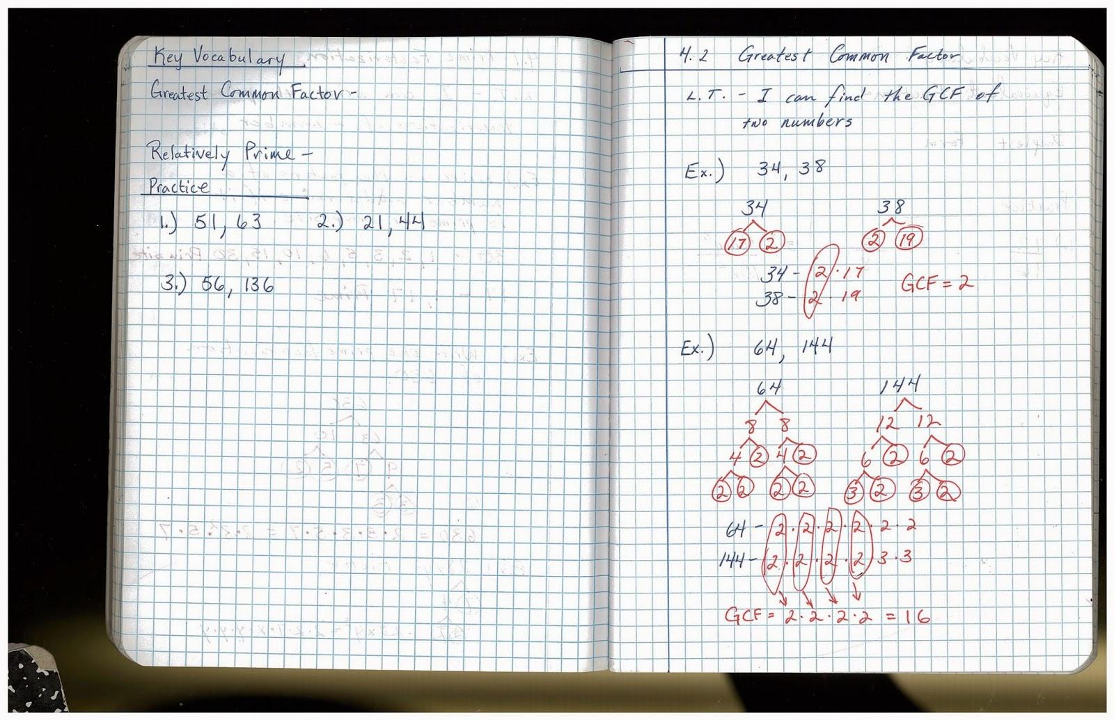 Heidemann 8th Grade Math 7th Period Pre Algebra 12 3